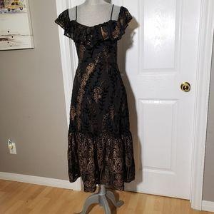 LOST + WANDER velvet dress
